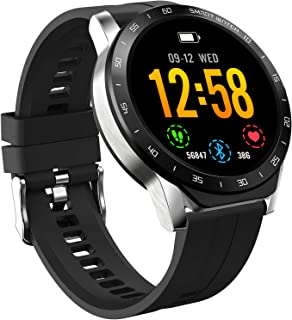 "HAOQIN Smart Watch Fitness Tracker HaoWatch VS1 1.3""Pantalla táctil Completa IP67 Impermeable con Monitor de frecuencia ca..."