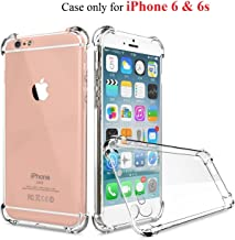 Dashmesh Shopping™ Shock Proof Protective Anti Shock, Soft Transparent Back Case Cover for Apple iPhone 6S & 6 [Bumper Corners with Air Cushion Technology]