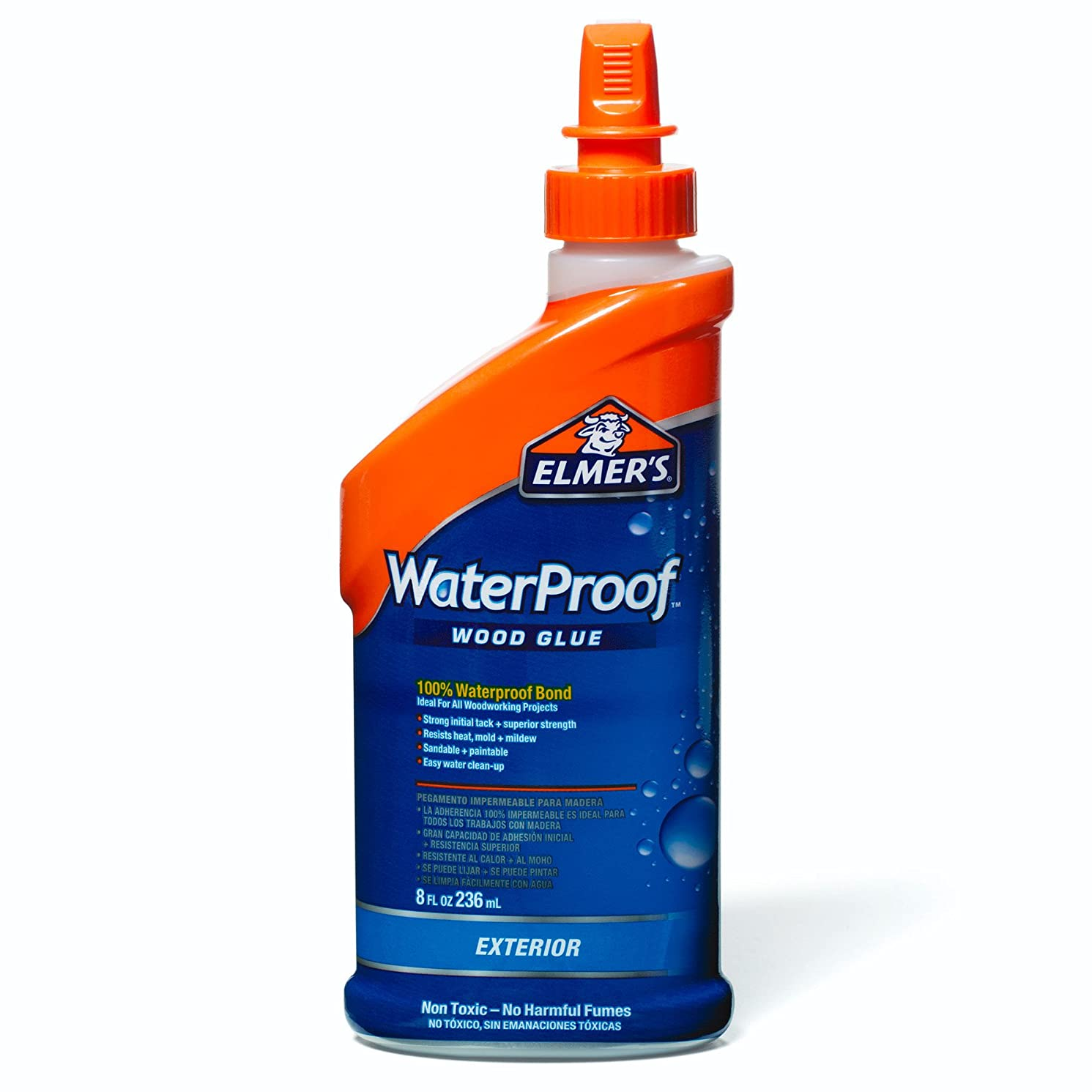 Elmer's E741 Waterproof Wood Glue 8-Ounce