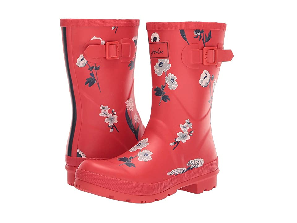 Joules Mid Molly Welly (Red Botanical) Women