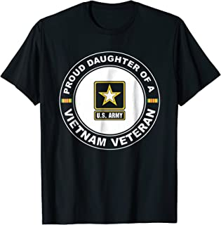 Proud Daughter Of A Vietnam Veteran - 4th Of July Tshirt