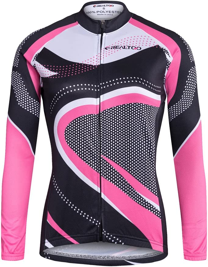 Cycling Shorts with Seat Padding GWELL Womens Breathable Windproof Cycling Jersey Set Long Sleeve