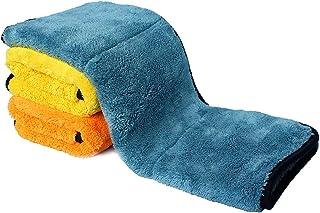 Auto Care 920GSM Super Thick Microfiber Car Cleaning Cloth Detailing Towel 15'' x 17.7'' Mix-3PCS