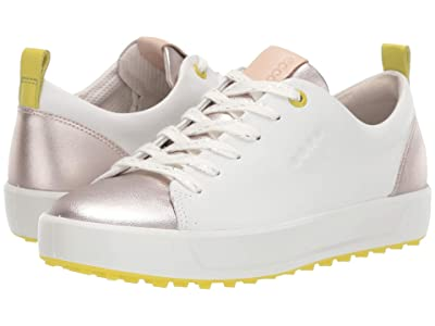 ECCO Golf Soft Metallic Hydromax(r) (White) Women