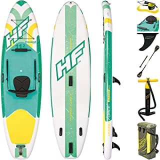comprar comparacion Bestway Freesoul Tech 65310 - Tabla inflable de paddle surf con remo de aluminio, blanco y verde (SUP kit con correa, bomb...