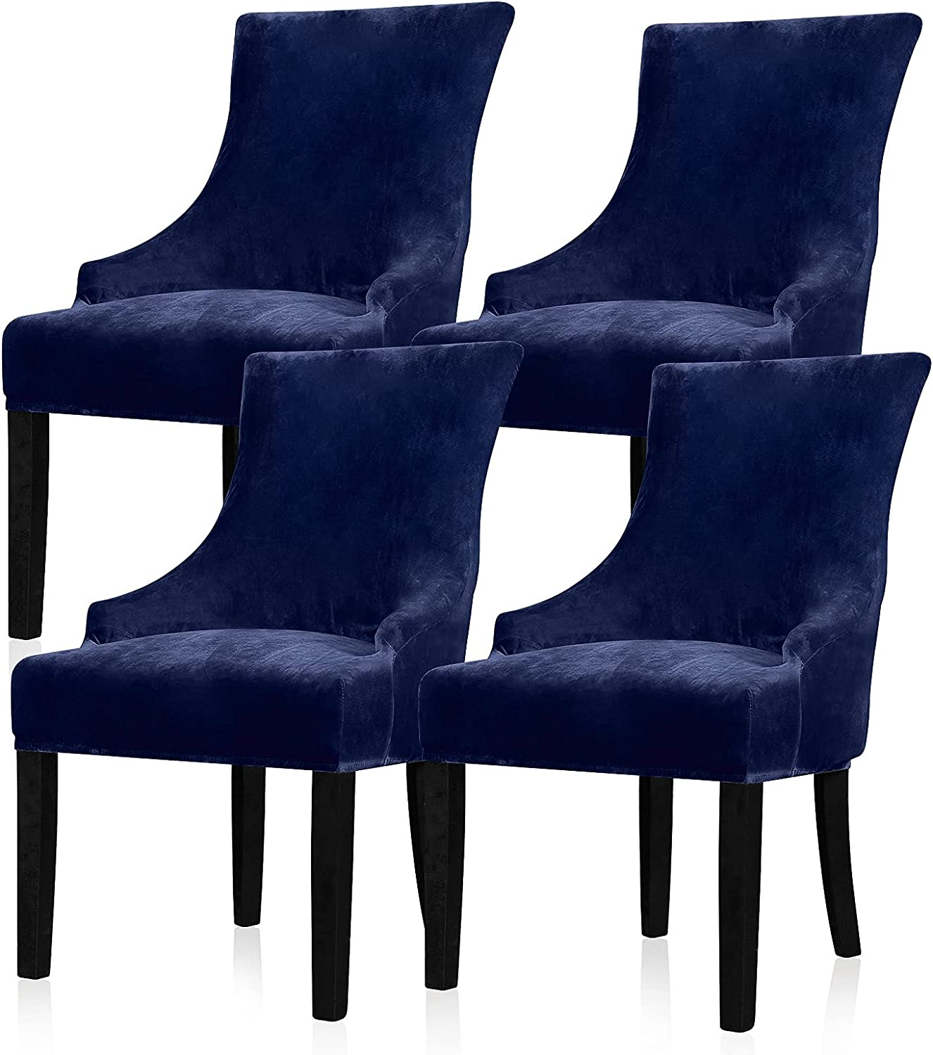 Lellen Velvet Stretch Sales of SALE items from new works Wingback Industry No. 1 Chair Cover - Slipcover Reusable