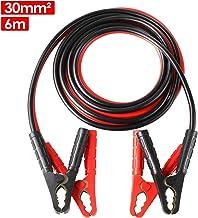 MVPOWER Cables de Arranque 6M 1500A 30mm² para 12V y 24V Incluye Guantes y Bolsa de Almacenamiento - CE para Automóviles, Campistas, Camiones, Motocicletas y Baterías de Emergencia (6M 1500A)