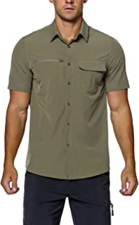 Men's Hiking Camping Short Sleeve Shirts Quick Dry Breathable