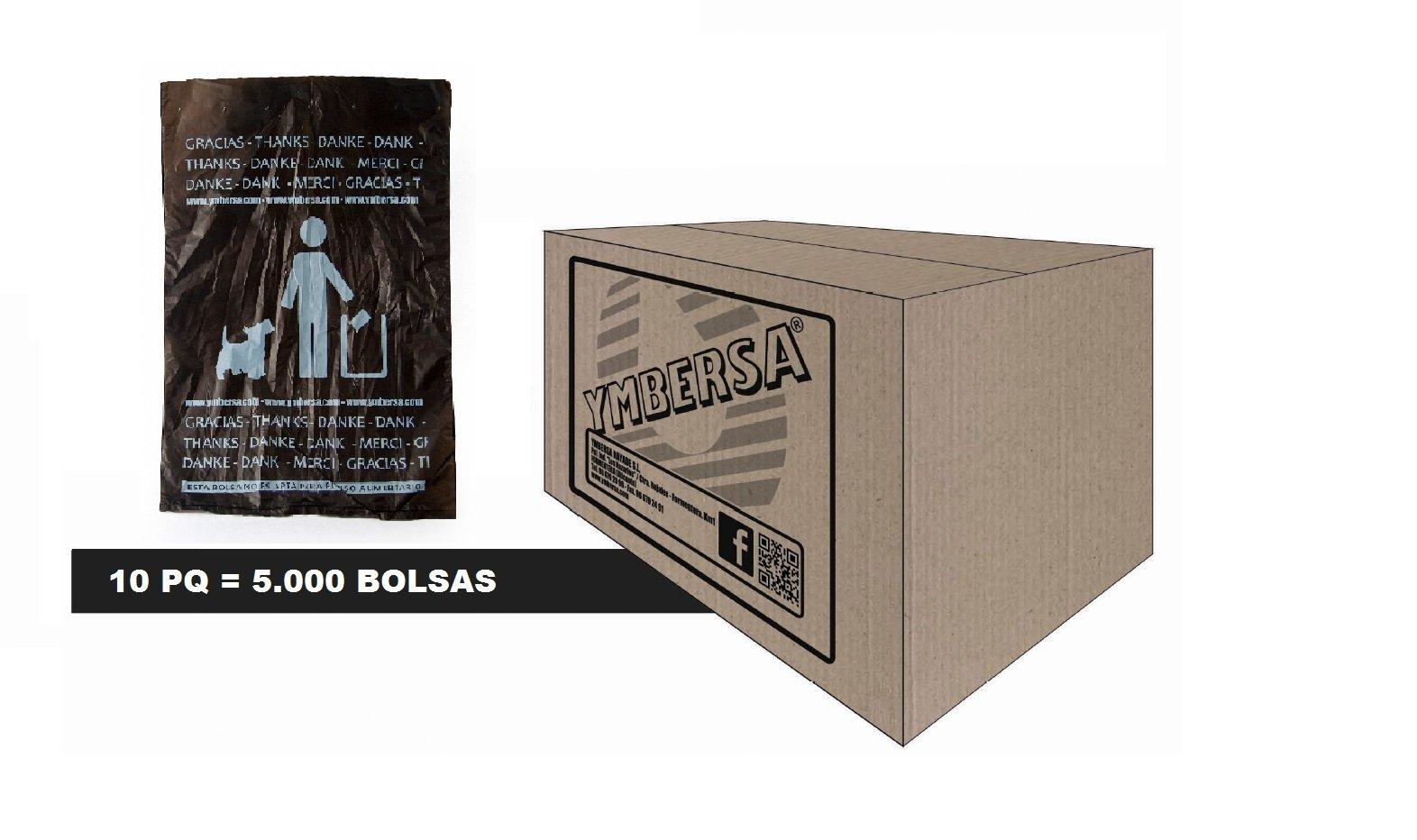 YMBERSA Bolsas para recargas del Estuche Náyade System® Dog Express. Caja 5.000 Unidades (10 PQ de 500 Ud/PQ): Amazon.es: Deportes y aire libre