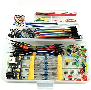 HJ Garden Electronic Component Assorted Kit for Arduino, Raspberry Pi, STM32 etc. 830 Breadboard + Jumper + Power Module +...