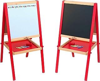 comprar comparacion Legnoland-35479 Pizarra de Madera con tizas y Borrador, Color Rojo, 89 cm (Star 81 35479)