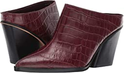 Burgundy Croco Print Leather