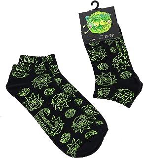 lunghi Rick and Morty calze Uomo Taglie S//M//L Sneaker in cotone colore nero Apunis Original calzini corti con stampa all over LUNGO+CORTO 2 PAIA
