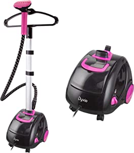 Dyvio Garment Steamer, Professional Clothes Steamer Heavy Duty Powerful Fabric Steamer, 4 Adjustable Steam Settings with 1.8 L Visible Water Tank Fabric Brush & Garment Hanger, Perfect for Household…