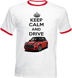 TEESANDENGINES Mens Mini Cooper Inspired Keep Calm /& Drive Gris Sudadera