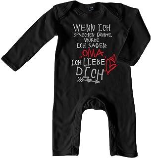 Mikalino Baby Schlafanzug Wenn ich sprechen könnte würde ich Sagen: Oma ich Liebe Dich