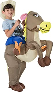 Inflatable Western Cowboy Riding Horse Halloween Costume