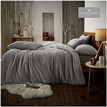GAVENO CAVAILIA Luxury Soft & Warm Teddy Duvet Set with Matching Pillowcases, Easy Care Fluffy Bed Linen, Premium Fleece Q...