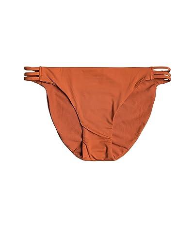 Roxy Solid Beach Classics Fashion Full Bikini Bottoms (Auburn) Women