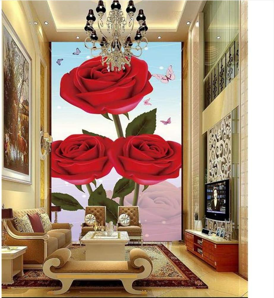 Mznm Custom In a popularity 3D Photo Wallpaper Raleigh Mall Mural Porch Room Rose Romantic Bu