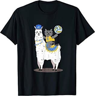 Volleyball Llama Cat Cool Cute Birthday Gift Idea Outfit T-Shirt