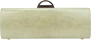 Bonjanvye Woman Evening Clutch Shiny Snake Skin Purses and Handbags