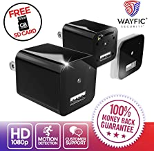 USB Hidden Spy Camera Charger for Home Security by WAYFIC - 1080p HD Micro Spy Camera for Sale with Wireless WiFi, Buy Secret Nanny Cam for Covert Surveillance, Mini Hidden Nanny Spy USB Camera Plug