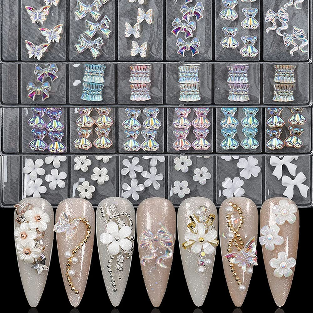 MADEI Skirt Shape Bow Ribbon AB Crystal Sales for Nails Financial sales sale Diamond Resin