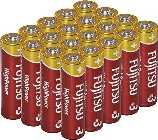 【日本製】 ファイン 災害救助用品 単3形 1.5V 富士通 アルカリ 乾電池 FUJITSU BATTERIES 20本 パック LR6FH20P
