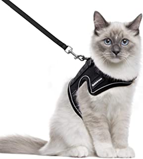 rabbitgoo Cat Harness and Leash for Walking, Escape-Proof No Choke Reflective Vest Harnesses for Medium Large Cats, Kitten...