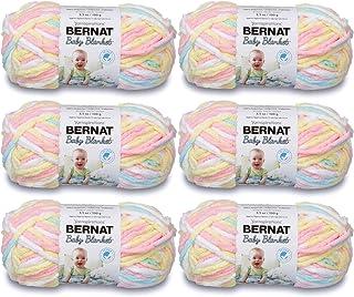 BERNAT Baby Blanket Yarn, 3.5oz, 6-PACK 161103 - Pitter Patter