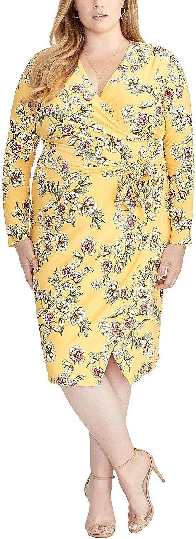 RACHEL Rachel Roy Women's Plus Size Darcie Printed Jersey Dress
