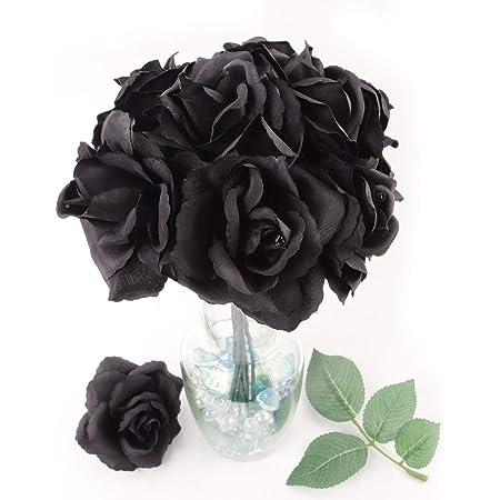 Velvet Dark Red Open Rose halloween weddings home displays