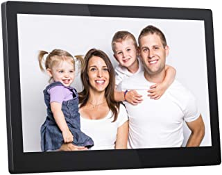 XIAOMIN 13 inch High-Definition Digital Photo Frame Electronic Photo Frame Showcase Display Video Advertising Machine Durable Color : White