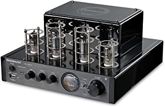 Nobsound MS-10D MKII Hybird Tube Amplifier with Bluetooth/USB/Headphone for Hi-Fi (Black)