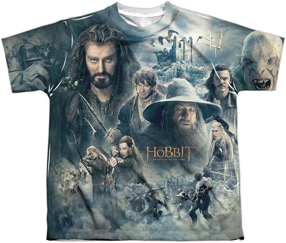 Youth: The Hobbit: The Battle of the Five Armies - Epic Poster Kids T-Shirt Size YM
