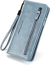 RFID Blocking Womens Large Capacity Zipper Purse Clutch Multi Card Organizer