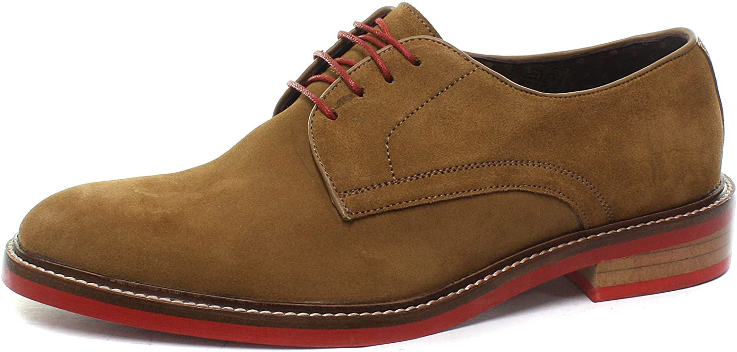 London Brogues Stanley Suede Mens Lace Up Derby shoes