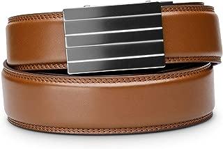 """KORE Men's Full-Grain Leather Track Belt   """"Endeavor"""" Alloy Buckle"""