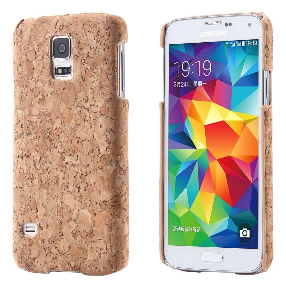 ECENCE Samsung Galaxy S5 i9600 S5 Neo S5 Plus Corcho Funda Caja ...