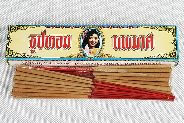 Noppamas Noppamas Hand Rolled Sandalwood Incense Stick 11 Inches 40 Sticks Sandalwood