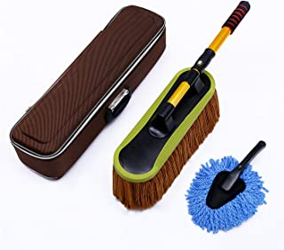 Feather Dusters Microfiber Car Duster Set with Extendable Handle for Exterior and Interior, Multipurpose Duster with Stora...