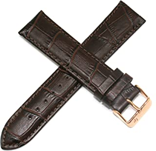 Lucien Piccard 22MM Alligator Grain Genuine Leather Watch Strap 7.5