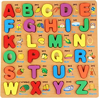 Children Early Education Wooden Puzzle Hand Grasping Number Alphabet Board Toy - 3#