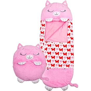EUBUY 2 in 1 Cartoon Animals Play Pillow Sleeping Bag Pillow That Converts Into A Sleeping Bag Comfortable Soft Cushion for All Seasons Machine Washable