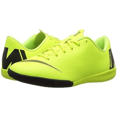 Nike Kids VaporX 12 Academy Indoor Competition Soccer(Little Kid/Big Kid) (Volt/Black) Kids Shoes