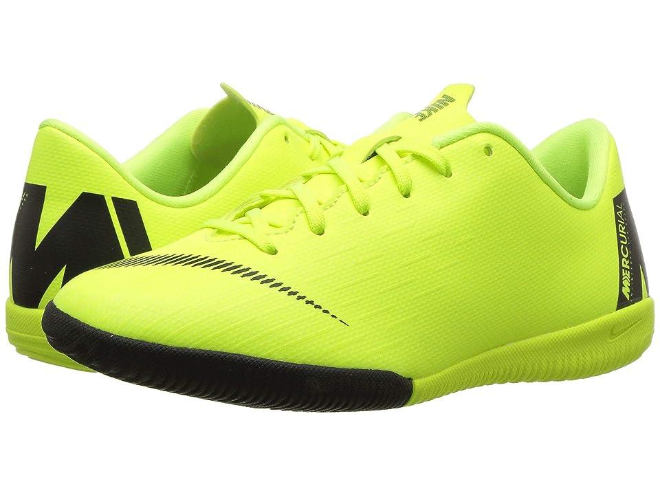 Nike Kids VaporX 12 Academy Indoor Competition Soccer(Little Kid/Big Kid) (Volt/Black) Kids Shoes, Yellow