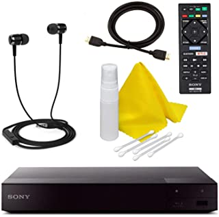 Sony BDP-S6700 4K Upscaling 3D Streaming Blu-ray Disc Player with Built in WiFi - 5 Pack Kit - Remote Control - 5 Pc Cleaning Kit - High Speed HDMI Cable - Xtreme Ear Buds (1 Year Warranty)
