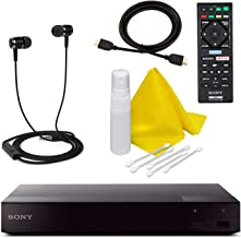 $114 » Sony BDPS6700 4K-Upscaling Blu-ray DVD Player with Super Wi-Fi + Remote Control, Bundled with Blu-ray Maintenance Kit + High-Speed HDMI Cable with Ethernet + Ear Buds