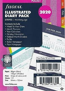 Filofax Pocket Diary Refills 2020 Stripes Illustrated Pack